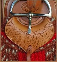 Custom handmade chinks_custom hand made saddles_ Gordon Andrus_ western saddles_ leather tooling_ leather carving_Cinch Safes_Cinch Chafe Guards_Mohai Saddle Cinch_Cinch Saddle Leather, Leather Tooling, Leather And Lace, Western Tack, Western Riding, Horse Gear, Horse Tack, Cowboy Gear, Leather Carving