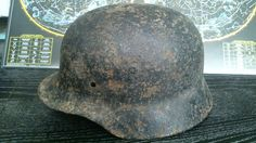 Relic WW2 ORIGINAL German ARMY M35 Stahlhelm Helmet  WWII East Front SHELL
