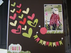 scrapbook layout, I love these hearts