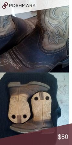 Durango Rebel Western Boot Beautiful brown/tan leather and square toe on these handsome boots. EUC and very well cared for. Men 10D Women 12D * Cowboy * Biker * Western * Motorcycle * Durango Shoes Cowboy & Western Boots