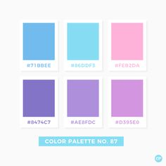 Color Palette No. Hex Color Palette, Color Schemes Colour Palettes, Pastel Colour Palette, Color Palate, Pastel Colours, Rgb Color Codes, Color Palette Challenge, Web Design, Pantone Color