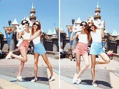 Perfect Disneyland outfits! Katie we gotta take picture like this!