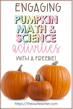 Check out these engaging math and science pumpkin activities that will engage your students and save you time lesson planning for the fall or Halloween! Plus, grab a FREEBIE! Halloween Science, Halloween Ideas, Halloween Goodies, Halloween Stuff, Teaching Tips, Teaching Math, Elementary Math, Upper Elementary, Science Activities