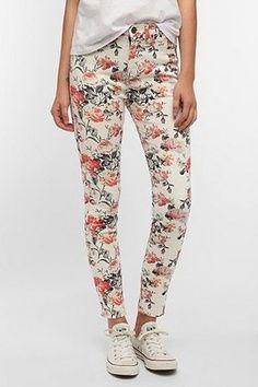 Floral Printed Skinny Jeans - got a similar pair :)