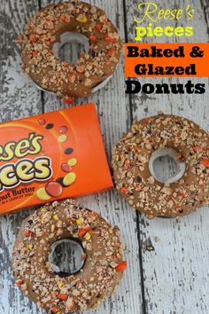 Reese's Pieces Baked  Glazed Donuts Recipe