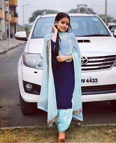 Punjabi Suit Neck Designs, Patiala Suit Designs, Neck Designs For Suits, Punjabi Salwar Suits, Designer Punjabi Suits, Punjabi Fashion, Indian Fashion, Indian Wear, Indian Style