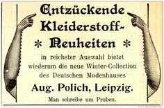 Original-Werbung/ Anzeige 1898 - DAMEN-KLEIDERSTOFFE / AUGUST POLICH LEIPZIG - ca. 90 x 60 mm