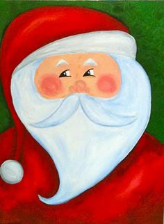 Painting Santas from Sleepyhead Designs Studio blog