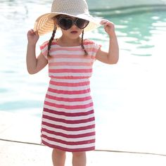 Give your daughter extra sun protection with an easy to sew DIY swim coverup. Step by step photos included. Also: a review of Curel Itch Defense Lotion.