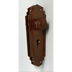 An original and genuine pair of Bakelite door handles