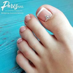 Popular French Toe Nails Art Pedicure Ideas For Your Fabulous Nails French Toe Nails, French Pedicure, Pedicure Nail Art, Pedicure Ideas, French Toes, Pretty Toe Nails, Cute Toe Nails, Pretty Nail Designs, Toe Nail Designs