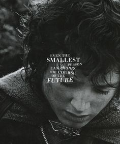 """lotr meme: 1/8 QUOTES """"Even the smallest person can change the course of the future."""""""