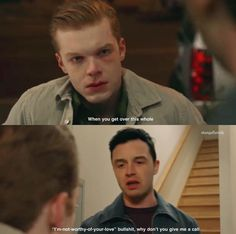 Shameless Mickey And Ian, Shameless Tv Show, Ian And Mickey, Shameless Scenes, Shameless Season, Funny Videos Clean, Noel Fisher, Cameron Monaghan, Best Tv Shows