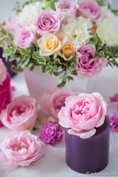 Candles and roses   Flickr - Photo Sharing!