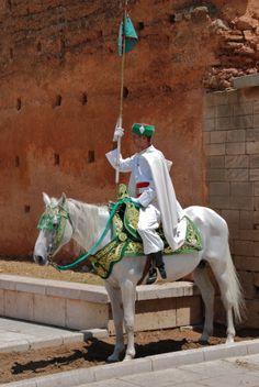 Royal guard. Rabat, Morocco.