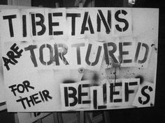 A picket sign my boyfriend and I made for a Free Tibet rally. Faith In Humanity Lost, Picket Signs, Tibet Art, Stand Up For Yourself, Tibetan Buddhism, Life Is Hard, My Spirit, Dalai Lama, United Nations