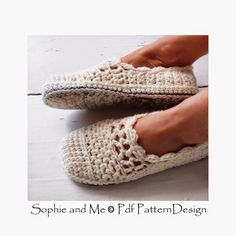 Sophie and Me: LACEY WOOL WINTER CROCHET SLIPPERS