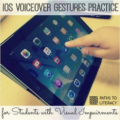 Accessibility on the iPad! Here's a a lesson plan to teach students with visual impairments to use iOS gestures with VoiceOver. It's never too early to introduce technology to your child with visual impairments.