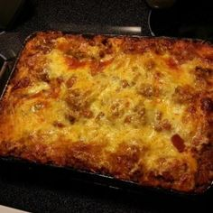 This is a really good basic lasagna recipe. Its based on one I found somewhere, but Ive tweaked it quite a bit to suit my own tastes. I like it as written with italian sausage, but you can substitute ground beef if you must.