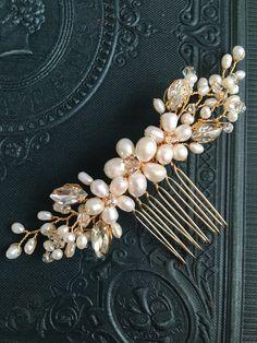 Nupcial peine peine del pelo de la boda accesorios por VHbridal