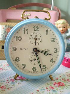 I collect vintage alarm clocks!