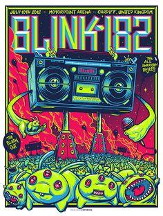 BLINK 182 #gig #poster #design