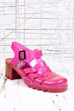 JuJu Babe Jelly Sandals in UV Purple at Urban Outfitters