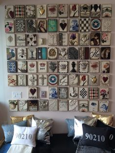 Art tiles- Memory Blocks by Sid Dickens, Vancouver, B.C.