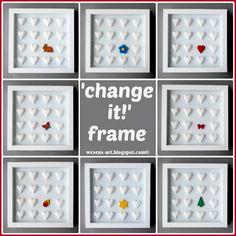 DIY 'change it!' frame