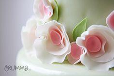 Translucent Pink Wedding Cake Flowers (View #2)