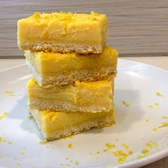 Delicious creamy tangy and sweet lemon bars - who would know they've only a 1/10th of the sugar in Paula Deen's recipe? Plus, they're low fat, high in protein, gluten free and 100% organic!