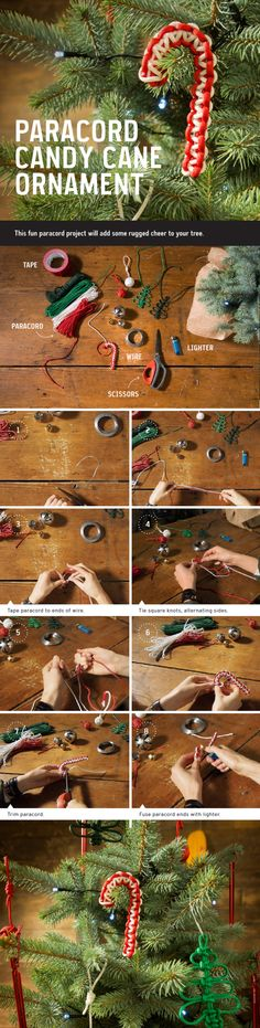 How To: Paracord Candy Cane Ornament – REI