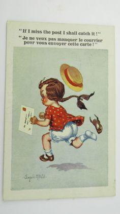 1923-Inter-Art-Donald-McGill-Comic-Postcard-No-4305-Royal-Mail-Letter-Post