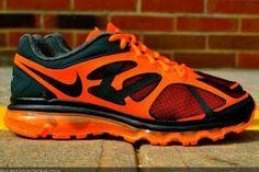Nike Air Max 2012 Anthracite / Black-Total Orange Sneaker