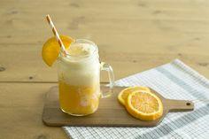 Vanilla icecream and orange juice float - Float de helado de vainilla y zumo de naranja