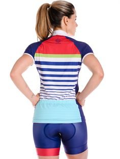 Women's Cycling Jersey in Monaco Design