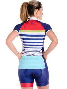 Women's Cycling Jersey in Monaco Design