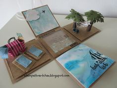 stamp tarts: * holidays out of the box * Card In A Box, Exploding Gift Box, Diy And Crafts, Paper Crafts, Scrapbooking, Magic Box, Pop Up Cards, Diy Box, Kirigami