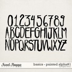 Basics - Painted Alpha #1 by Sugary Fancy