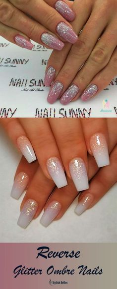 The Best Coffin Nails Ideas That Suit Everyone Amazing reverse glitter ombre nails! Related posts: 100 black and white acrylic coffin nails ideas in 2019 page 55 – ✦ηαıłs… Top coffin nails ideas for this summer 2019 – page 2 Coffin Nails, Sns Nails, Cute Acrylic Nails, Glitter Nails, Cute Nails, Pretty Nails, Oval Nails, Silver Glitter, Ombre Nail Designs