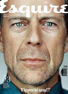 Bruce Willis Esquire Spain Magazine Cover June 2012