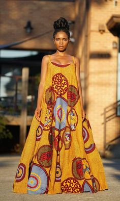 IMAN Maxi Dress - African Print | ASHANIS COLLECTION