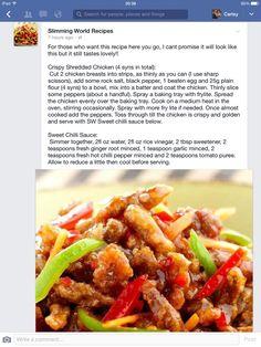 Archaiccomely Slimming World crispy shredded chicken. 4 syns - Slimming World crispy shredded chicken. Slimming World Dinners, Slimming Eats, Slimming World Recipes, Slimming Word, Chicken Diet Recipe, Chicken Recipes, Diet Recipes, Cooking Recipes, Healthy Recipes