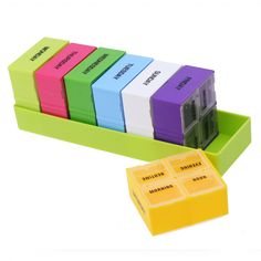 Cheap pill case, Buy Quality medicine container directly from China pill box Suppliers: Weekly 7 Days pill cases Portable Pills Box Colorful Plastic Holder 28 Slot Pill Cases Organizer Splitters Medicine Container Medicine Storage, Medicine Organization, Container Organization, Storage Organization, Weekly Pill Box, Toothbrush Storage, Rose Gold Room Decor, Pill Organizer, Fiber Lash Mascara