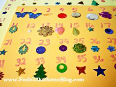 Counting to 100 with sequins and glue