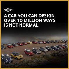 A car you can design over 10 million ways is not normal. Mini Countryman, Mini Clubman, Mini Cooper S, Cooper Cars, Mini Paceman, Car Banner, Mini Lifestyle, Morris Minor, Mini Things