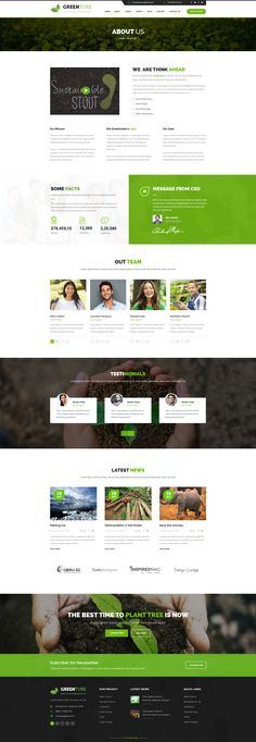Greenture is professional, modern crafted PSD template which can be used for Eco, Environment, Nature and related to NGO & Enviroment.   Here you will get 21 layered PSD with easily customizbale l...