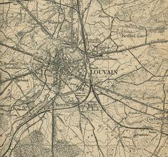 Leuven stafkaart, Duitse stafkaart, 1/60.000, Louvain 32, 1915