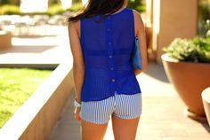 Hapa Time - a California fashion blog by Jessica - new fashion style - 2013 fashion trends: Blue Stripes