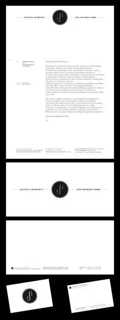 letterhead. Very classy deep black and white look                              …
